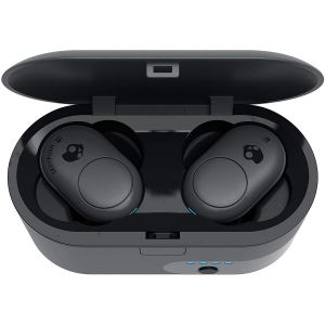 Headphones: SKULLCANDY Push True Wireless Bluetooth Rechargeable Ear Air Pods Headphones Mic - Grey