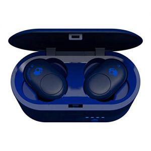 Headphones: SKULLCANDY Push True Wireless Bluetooth Rechargeable Ear Air Pods Headphones Mic - Indigo Blue