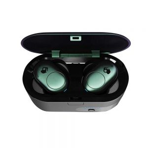 Headphones: SKULLCANDY Push True Wireless Bluetooth Rechargeable Ear Air Pods Headphones Mic - Teal