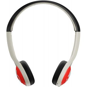 Headphones: Skullcandy Icon Wireless Bluetooth Rechargeable On-Ear Mic Headphone - Stone