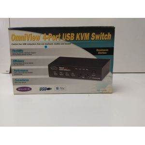 PC Hardware: Belkin 4 Port USB KVM Switch Business Series Control PS/2 USB With Cables Black