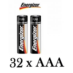 32 Pack Genuine Energizer AAA Alkaline Batteries 1.5V MN2400 LR03 Battery Cells