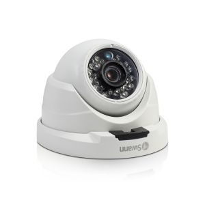 CCTV Cameras: Swann NHD 811 1080p Full HD Security Dome CCTV Camera Night Vision Audio - White