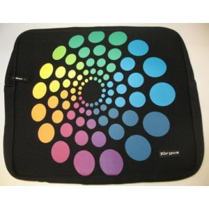 Targus Spectrum Circles Laptop Skin Neoprene Notebook Bag Sl