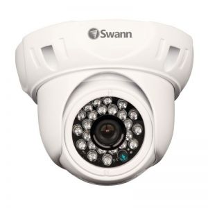 Swann PRO-736 x1 700 TVL Night Vision Outdoor Dome Camera CCTV With Power Supply