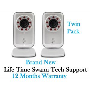 Swann ADS-450 x2 IPC SwannSmart Wi-Fi Network CCTV Camera Secure Cloud Storage
