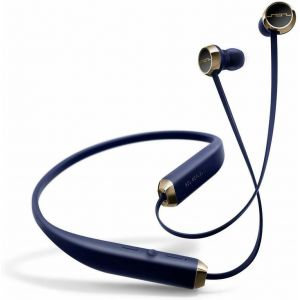 Headphones: SOL REPUBLIC Shadow Wireless Bluetooth Neckband Headphone Earphone Mic 8 Hr Battery - Navy