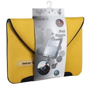 Tech Air iPAD 1 2 & 3 Tablet Envelope Sleeve Case Yellow Neoprene Slip...