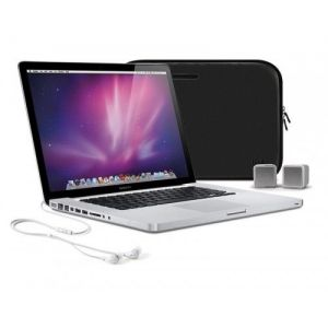 iLuv IJL2121BLK Essential Kit 15 inch MacBook Case ISP160 USB Speakers Earphones NEW