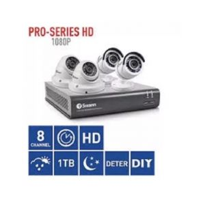 Swann 4575 4 Channel DVR 2TB Recorder 2 x T852 2 x T854 1080P HD 4 Camera CCTV Kit