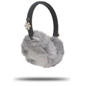 KitSound Faux Fur Jewel Kids On-Ear Earmuffs Built In Headphones iPod ...