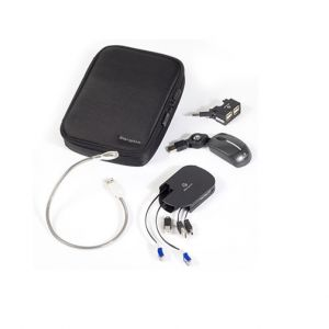 Laptop Accessories: Targus 4-In-1 Notebook Accessories Kit - Mini Mouse/HUB/Light Cables Set (BEU0470)