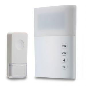 Swann Wireless Door Bell with Large LED Light Hard Of Hearing