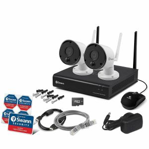 CCTV Systems: Swann NKW-490 4 Channel Wi-Fi HD 1080P CCTV Wireless Audio Heat 1TB 2x Camera Kit