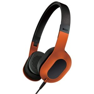 KEF M400 On-Ear Hi-Fi Headphones For Apple iphone Mobile - Sunset Orange
