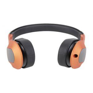 Headphones: KEF M400 On-Ear Hi-Fi Headphones For Apple iphone Mobile - Sunset Orange
