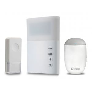 CCTV Accessories: Swann Wireless Door Bell with Large LED Light Hard Of Hearing + Extra Chime Unit