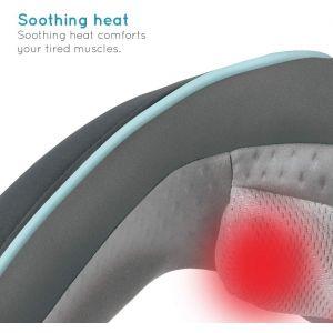 Health & Fitness: Homedics NMS-255 Shiatsu Portable Neck Shoulder Massager With Heat 2 Programs