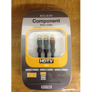 Belkin Black Component HDTV Video Pure AV RGB Cable 1.8m Gold Plated AM21001er06