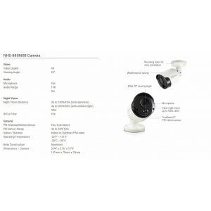 CCTV Cameras: Swann NHD-885MSB 4K Ultra HD Bullet Outdoor Security Camera IR Heat Motion Night