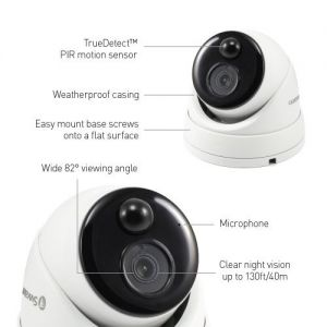 CCTV Cameras: Swann NHD-866 5MP Thermal Motion Sensing HD Dome Security Camera For NVR-7450