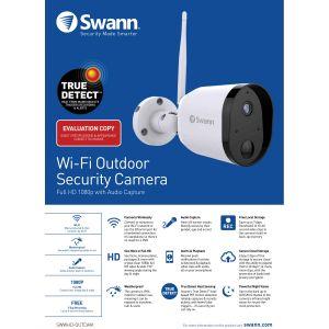 CCTV Cameras: Swann 1080p HD Wi-Fi Outdoor Security Camera Outcam Motion Heat Night Audio Cloud Alexa