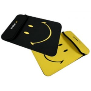 Port Designs Smiley Series Reversible Netbook Tablet Skin 10 inch Black Yellow 140260