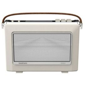 Goodmans OXFORD 2 DAB Plus Bluetooth NFC Digital FM RDS Radio Vintage Style Cream