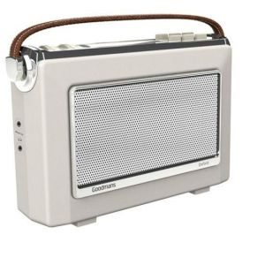 DAB Digital Radio: Goodmans OXFORD 2 DAB Plus Bluetooth NFC Digital FM RDS Radio Vintage Style Cream