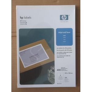 HP Q6552A 4000x Large Address Label Paper 105x148 A4 Quick Dry Smudge Free Stick