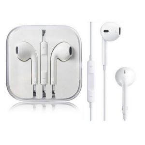 Headphones: Official Genuine Apple EarPods with 3.5mm Headphone Jack Plug MNHF2ZM/A - White