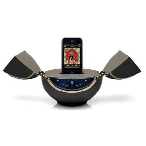 VestaLife Mantis Speaker Dock iPod iPhone + Aux In MP3 Players Mobiles Black