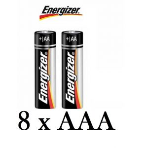 AAA: 8 Pack Genuine Energizer AAA Alkaline Batteries 1.5V MN2400 LR03 Battery Cells
