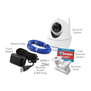 CCTV Cameras: Swann SWWHD-PTCAM Wireless Pan & Tilt 1080p HD WiFi Security Surveillance Camera