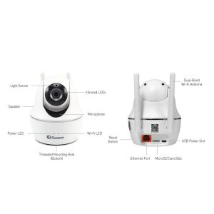 CCTV Cameras: Swann SWWHD-PTCAM Wireless Pan & Tilt 1080p HD WiFi Security Surveillance Camera