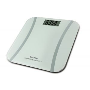 Salter Electronic LCD Scales 9073 WH3R Glass Platform Accurate Bathroom Sca...