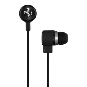 In Ear: Ferrari Scuderia T150i Black In Ear Headphones anti-Tangle iPad iPhone Remote B
