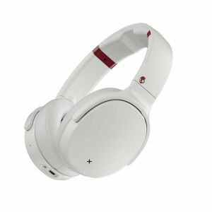 SKULLCANDY VENUE Bluetooth Wireless Over-Ear Headphones Mic ANC Upto 24 Hr Battery - White/Crimson