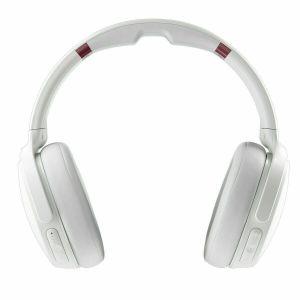 Headphones: SKULLCANDY VENUE Bluetooth Wireless Over-Ear Headphones Mic ANC Upto 24 Hr Battery - White/Crimson