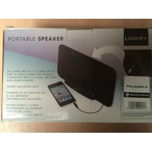 Lowry GSS1 Portable MP3 MP4 Players Speaker Battery / AC Powered 3.5 m...