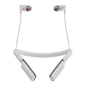 Headphones: SKULLCANDY METHOD Wireless Bluetooth In-Ear Sport Headphones Earbud Mic 9 Hr Battery - White