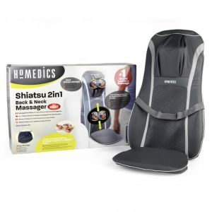 Homedics MCS-8840H 2 In 1 Shiatsu Upper Lower Full Back Neck And Shoulder Massager