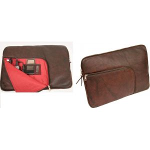 D.Bramante 7-10 inch Netbook Tablet iPad Real Leather Skin Sleeve Case Zip Pouch