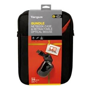 Laptop Accessories: Targus BEU3124-01P 11.6 inch Netbook Case & Retractable Optical Mouse Bundle
