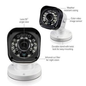 CCTV Cameras: Swann Pro T835 HD 720p Bullet Security CCTV Cameras LED Night Vision 65ft 20m - 4 Pack