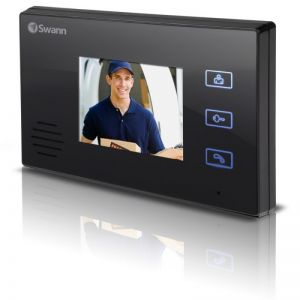 CCTV Cameras: Swann DP870C Doorphone Security Video Intercom Camera System With Colour LCD Monitor