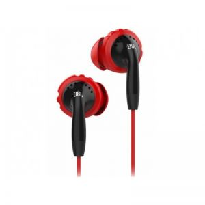 Headphones: JBL Inspire 100 In the Ear Sport Earphone with TwistLock Technology - Black/Red