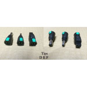 Laptop chargers: Set of Kensington Universal Power Supply Tips Connector Adaptors Adapters