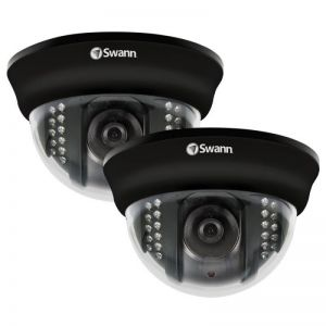 Swann PRO-531PK2 TruColor 600 TVL Night Vision Security Indoor Dome Camera ...