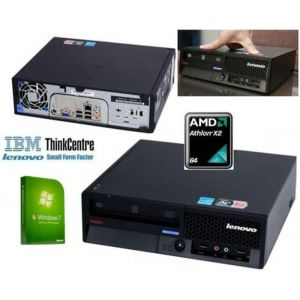 IBM ThinkCentre USFF Windows 7 PC Computer AMD Athlon X2 64 3GB 80GB 5 Year...
